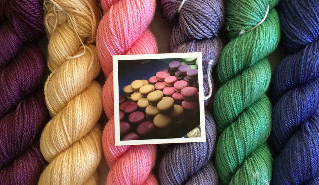 French Macaroon yarn colors